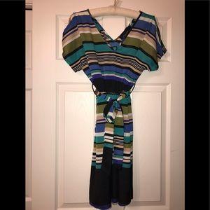 Blue Rain Striped Dress Size Small